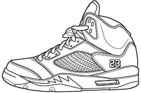 591x392 Jordans Shoes Coloring Pages Printable Shoes Coloring Page