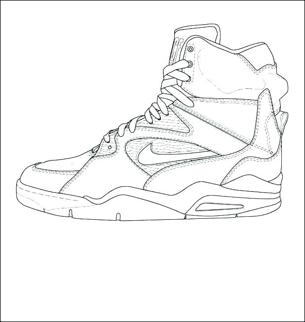 618x652 Michael Jordan Coloring Page Coloring Pages Air Jordan Coloring