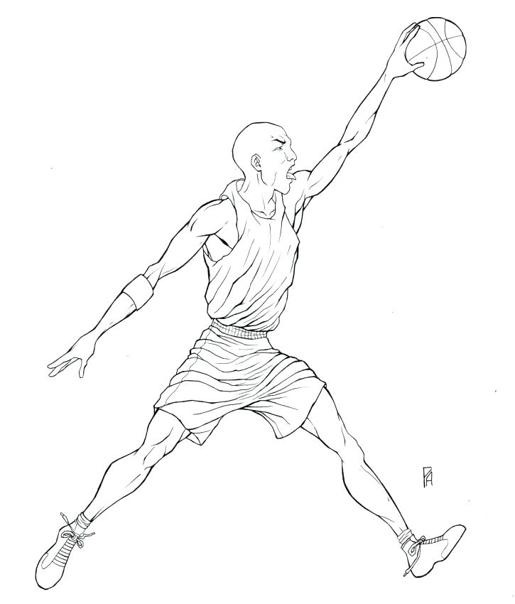 725x850 Michael Jordan Coloring Pages