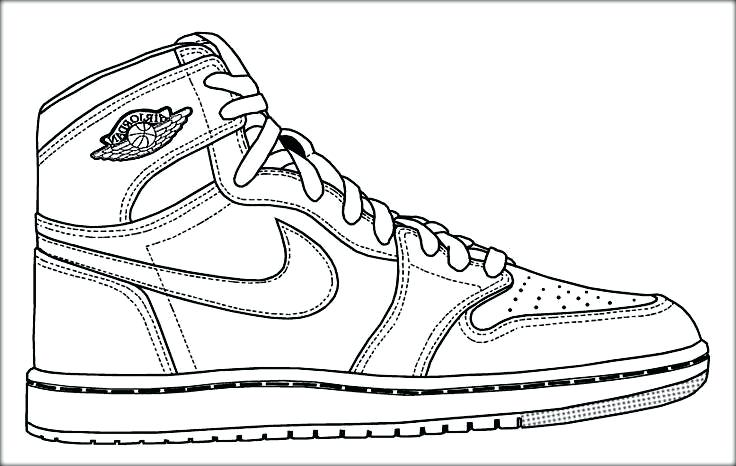 736x466 Air Jordan Coloring Pages Shoe Page Shoes Image Sneaker