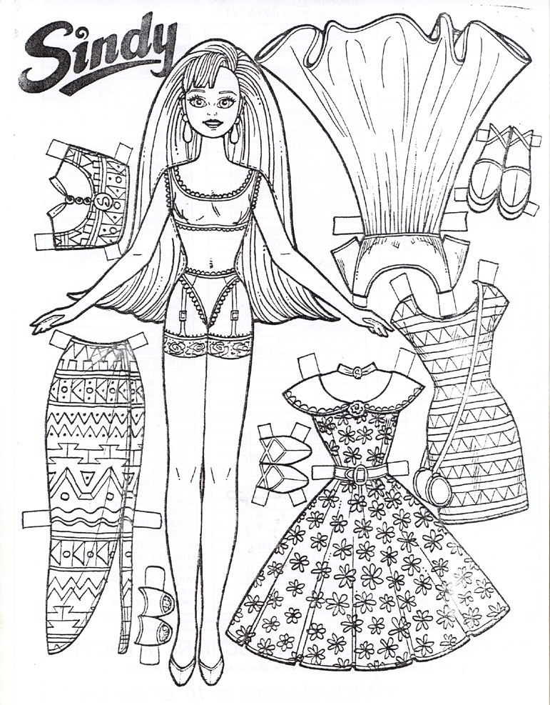 771x987 Coloring Pages Of Paper Dolls
