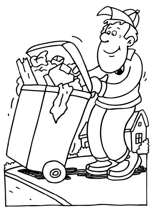 530x750 Coloring Page Garbage Collector
