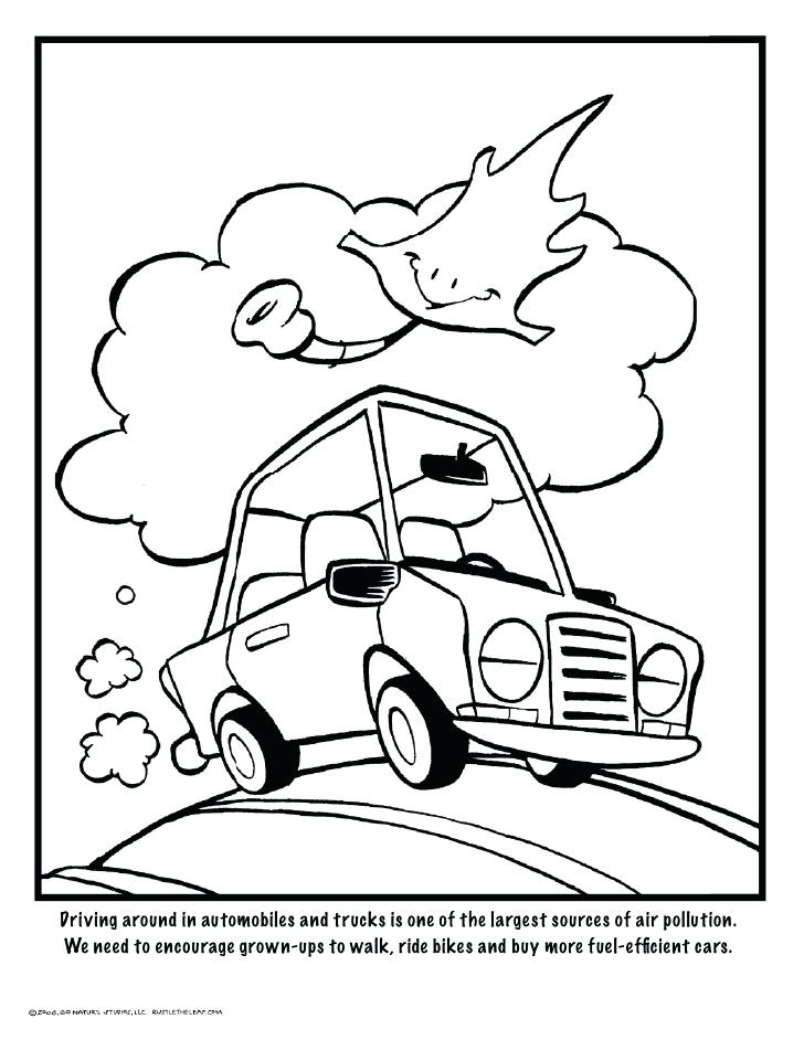 728x942 Air Pollution Colouring Pages No Cars Less Segregation Coloring