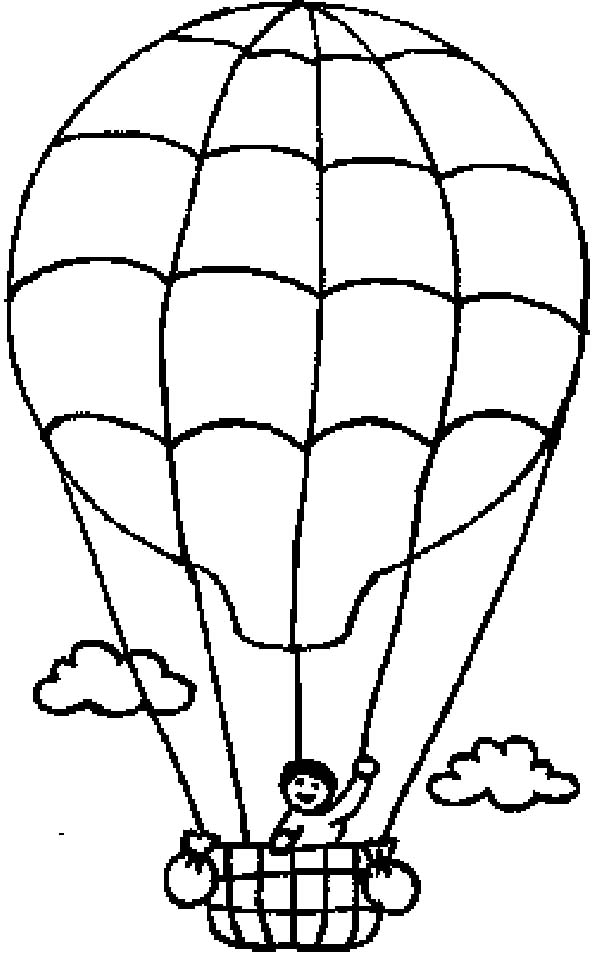 600x969 Hot Air Balloon Coloring Pages