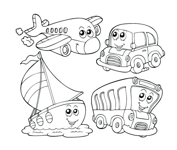 728x616 Transportation Coloring Pages Transportation Coloring Page Cartoon