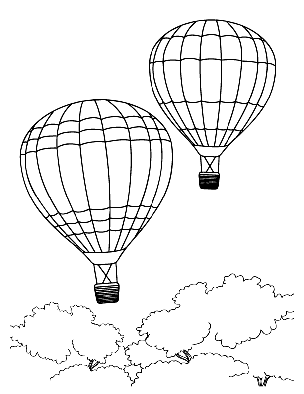 612x792 Transportation Coloring Sheets Hot Air Balloons Coloring Pages