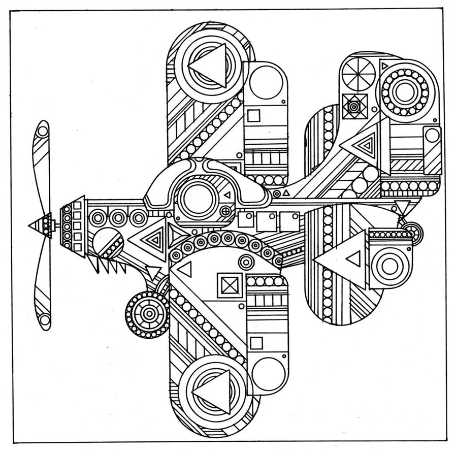 896x892 Abstract Coloring Pages Planefree Coloring Pages For Kids Free