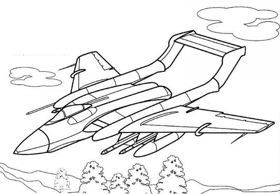 960x668 Get This Airplane Coloring Pages For Adults !
