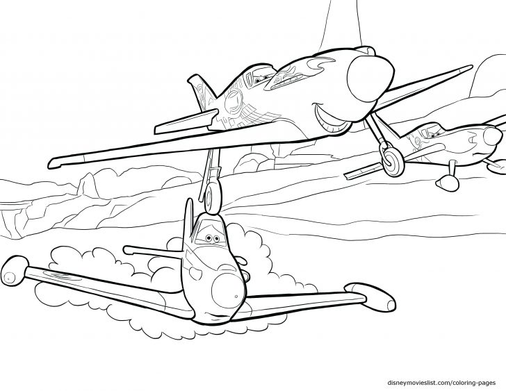 728x563 Airline Airplane Coloring Page Pages Flowers And Butterflies Drawn