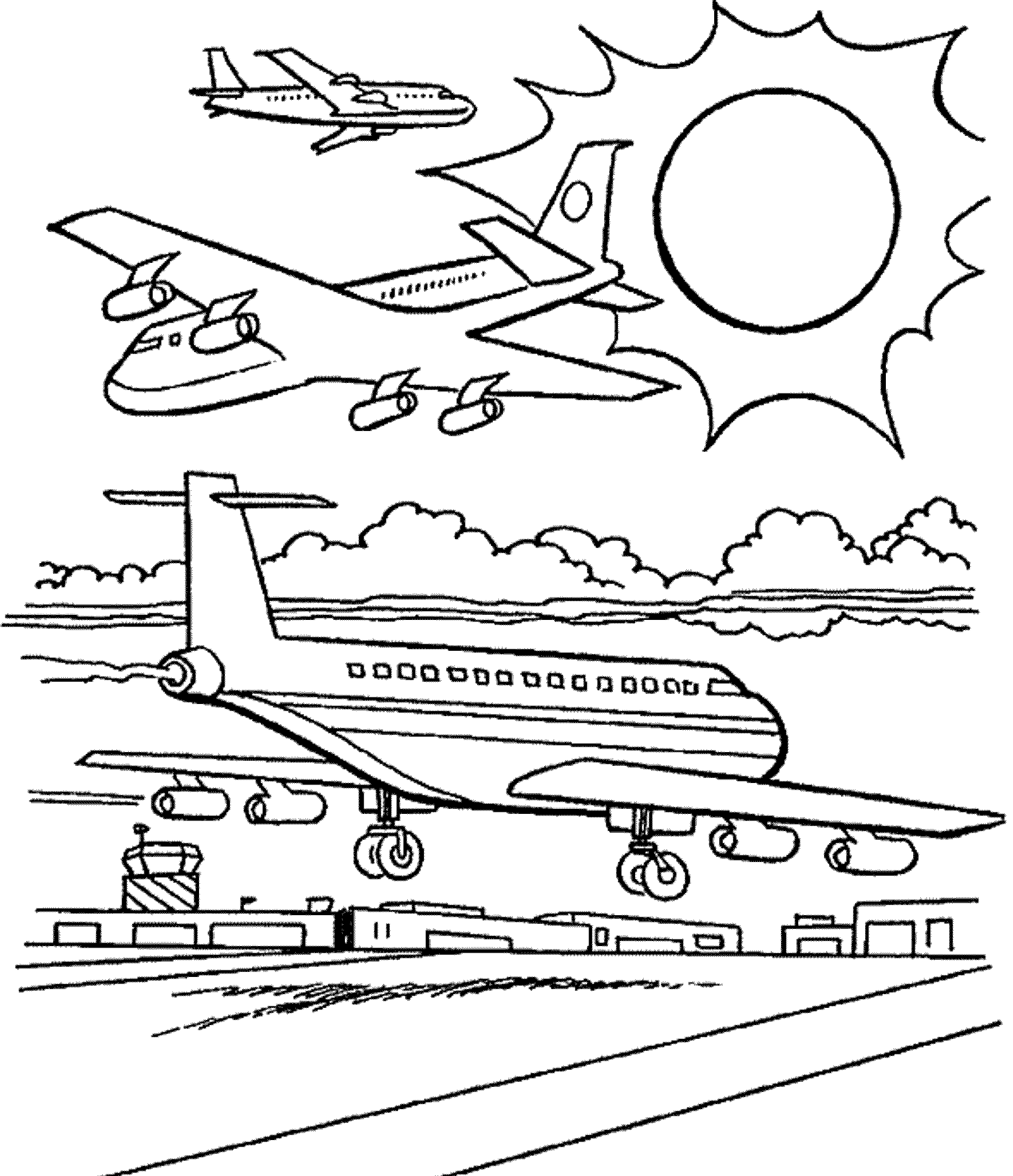 2000x2322 Airplane Coloring Pages For Adults