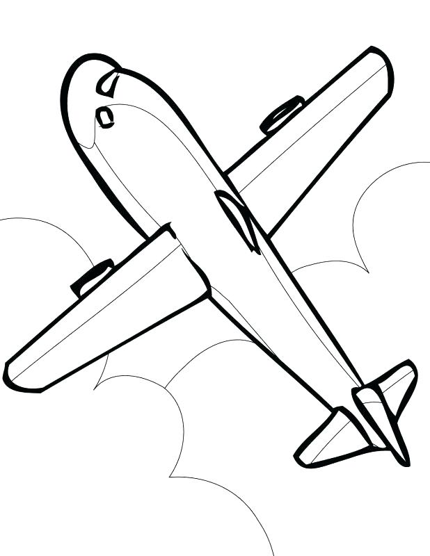 618x800 Coloring Pages Airplane