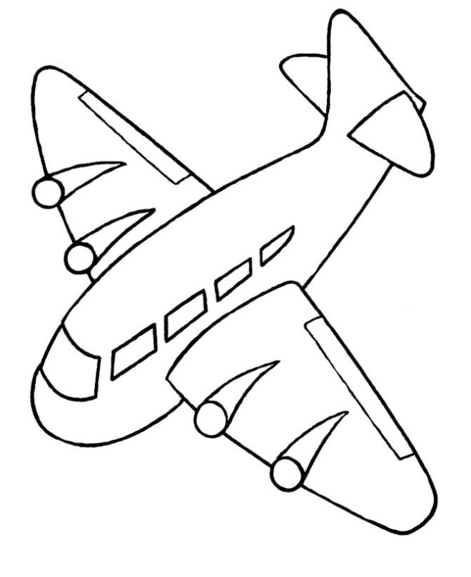 660x808 Airplane Coloring Pages For Kids Coloring And Templates