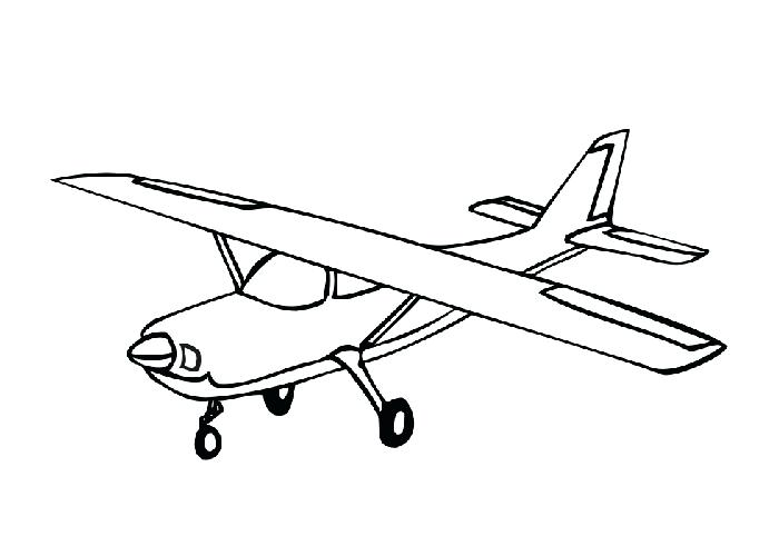 700x500 Plane Coloring Sheets