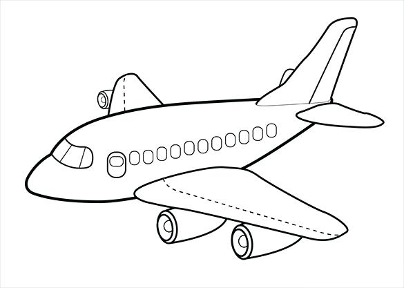 585x417 Airplane Coloring Pages To Print For Free Airplane Coloring Page