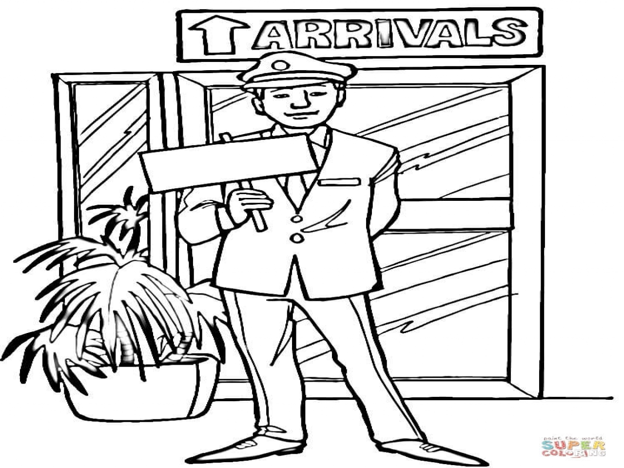 1280x960 Airport Coloring Sheets Pages
