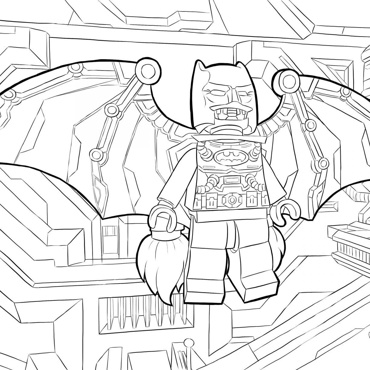 1224x1224 Batman Lego Coloring Pages Printables Page Printable General Free