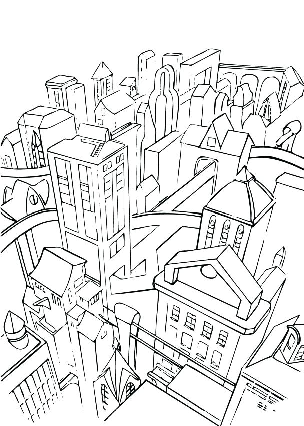 607x850 Lego City Coloring Page Coloring Pages Printable Harry Potter
