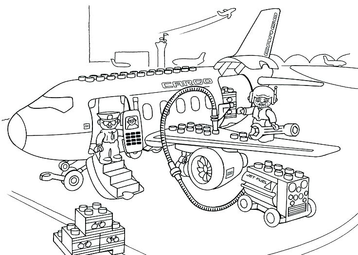 736x525 Lego City Forest Police Coloring Pages Airport Color