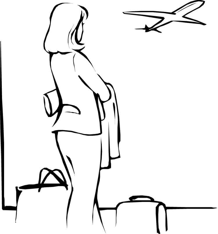 750x806 Airplane Rport Coloring Page