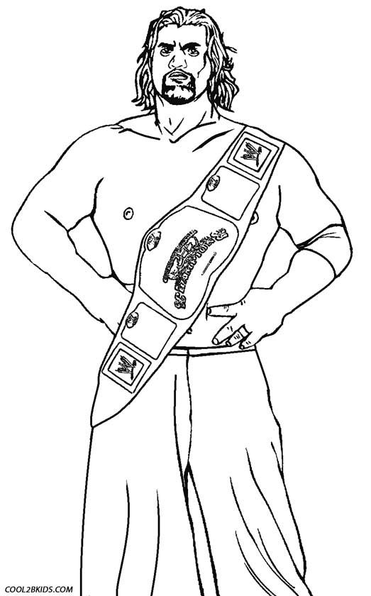 523x840 Printable Wrestling Coloring Pages For Kids Sports