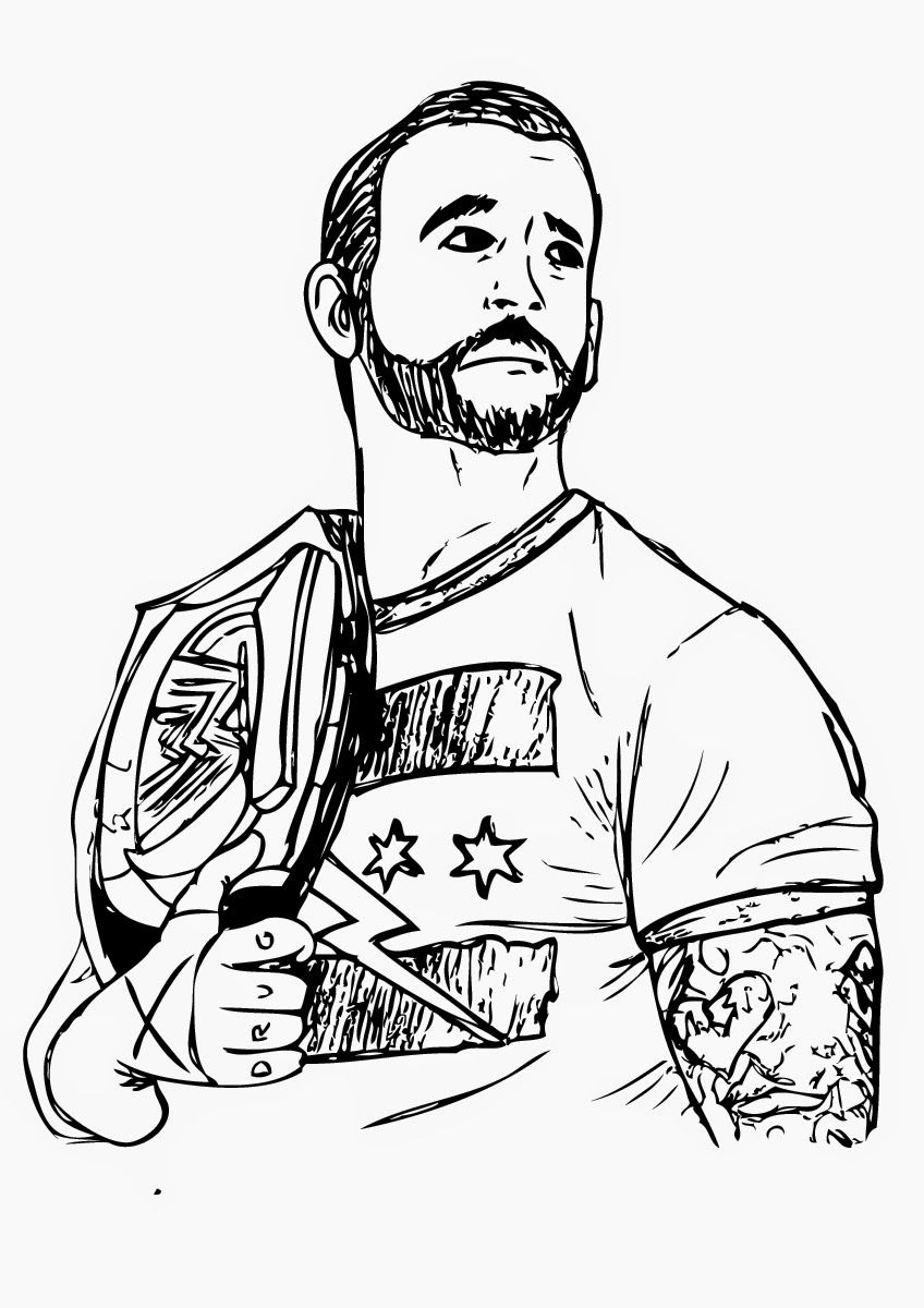 848x1200 Printable Wwe Coloring Pages For Adults Birthday Party