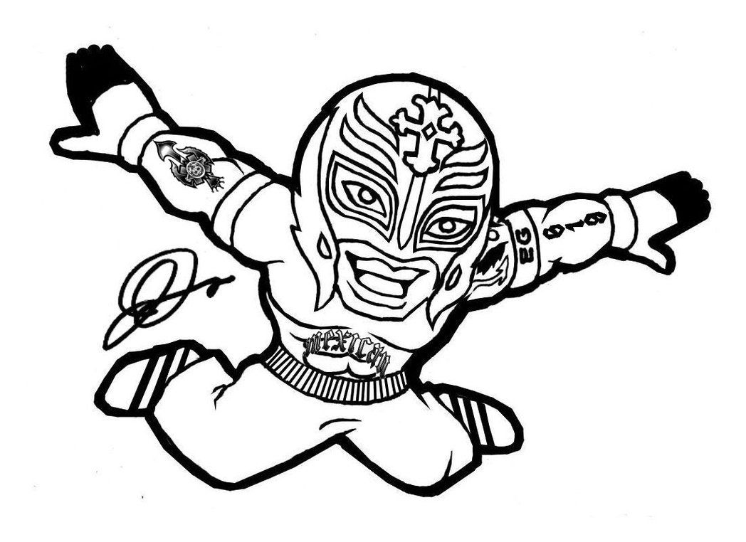 1048x762 Wwe Coloring Pages Of Rey Mysterio Wwe Crayons