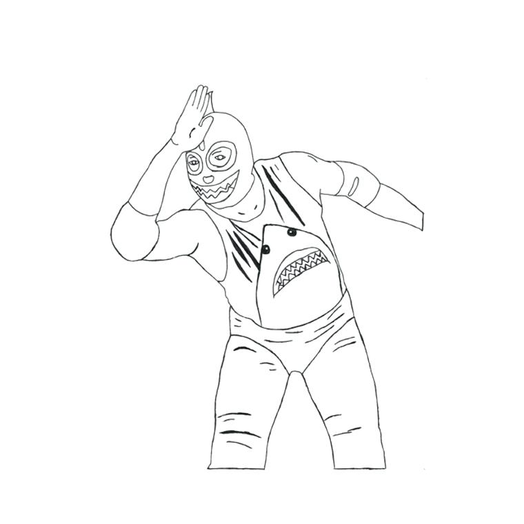 760x760 Wwe Coloring Pages