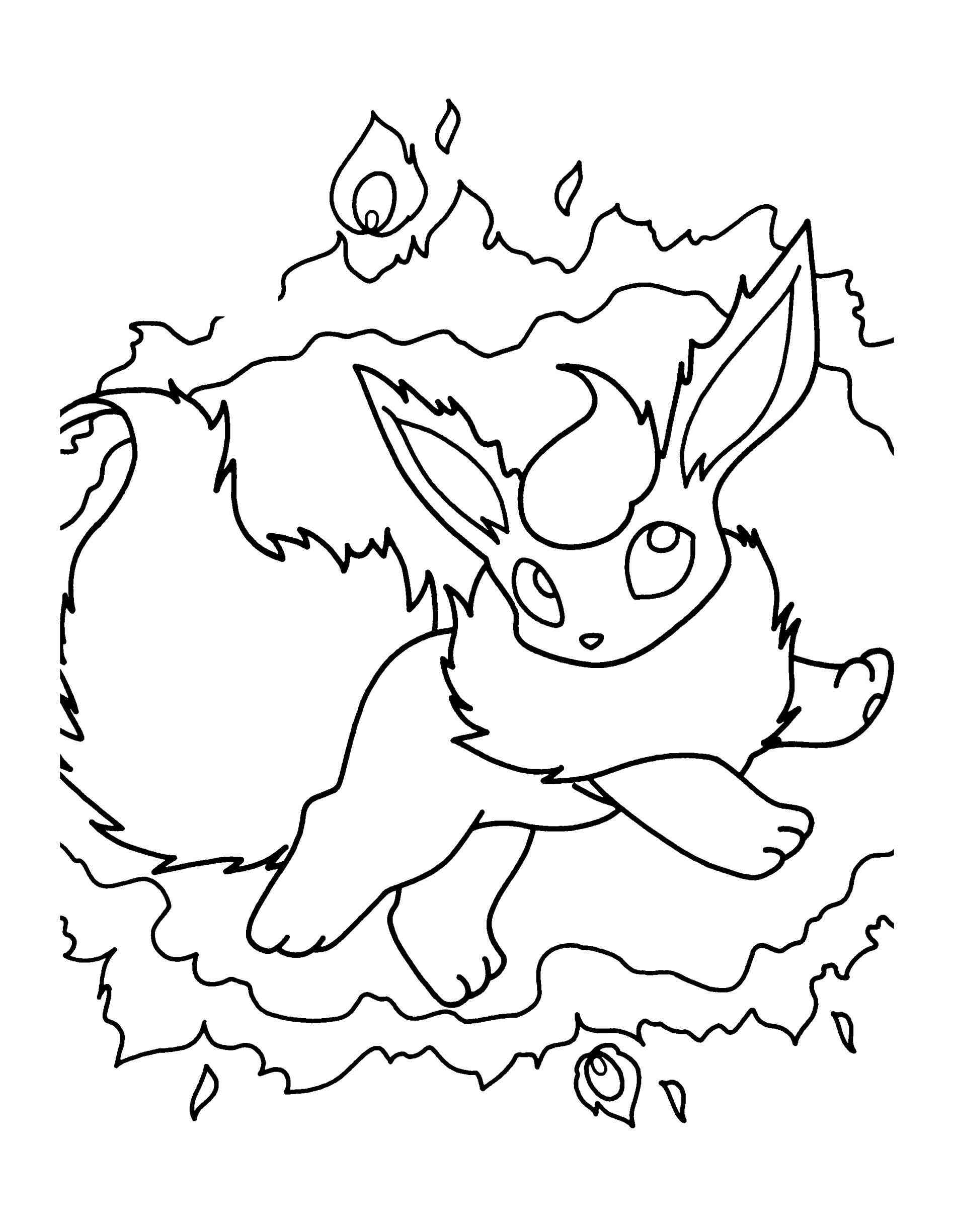 1896x2449 Flareon Coloring Page