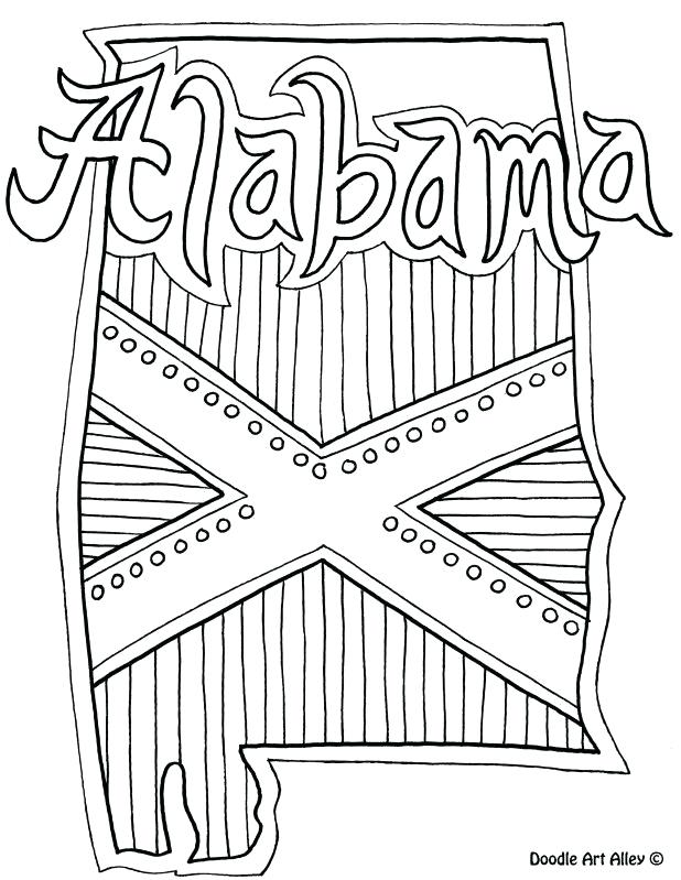 618x799 Alabama State Coloring Pages Best Images On Doodle Art Church
