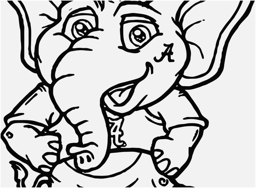 827x609 Abstract Elephant Coloring Pages Pictures Alabama Football