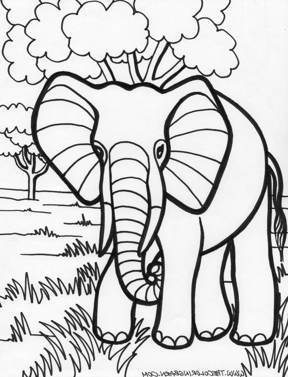 1000x1310 Alabama Elephant Coloring Page Coloring Pages Elephants Coloring