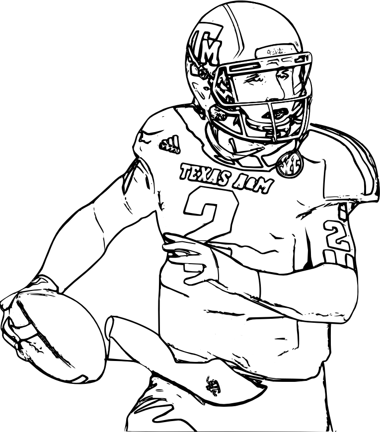 765x870 Printable College Football Coloring Pages