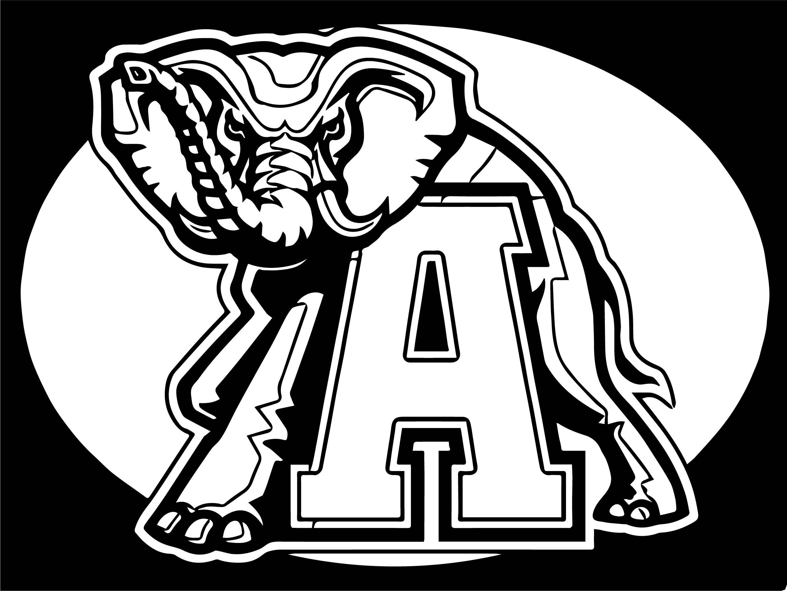 2507x1882 Astonishing Alabama Crimson Tide Football Logo Coloring Page