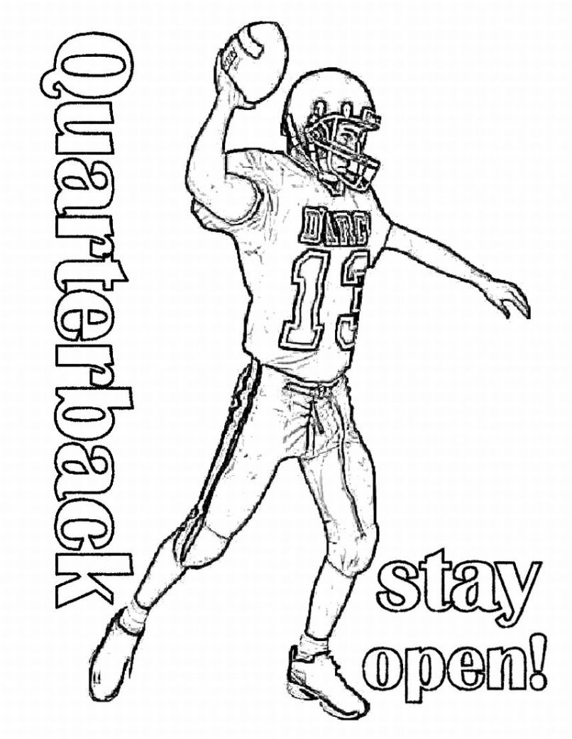 806x1042 Cartoon Football Player Coloring Pages Download Coloring Sheets