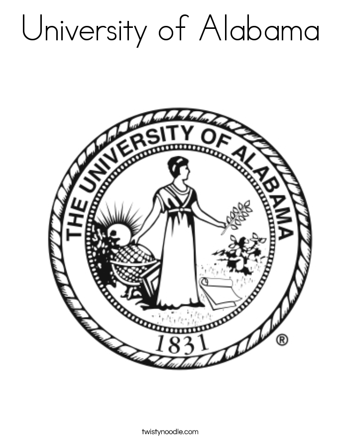 685x886 University Of Alabama Coloring Page