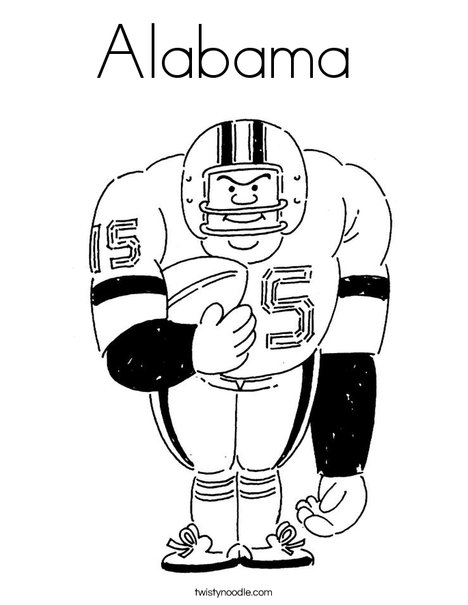 468x605 Alabama Football Coloring Pages Alabama Crimson Tide College