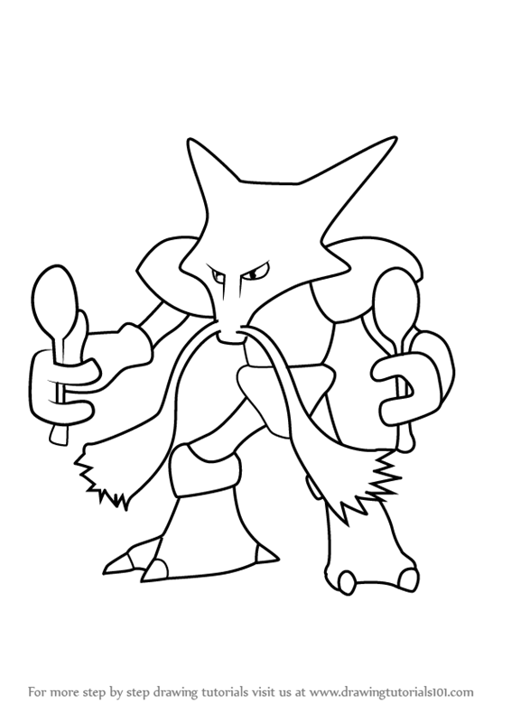 Alakazam Coloring Pages At Getdrawings Free Download