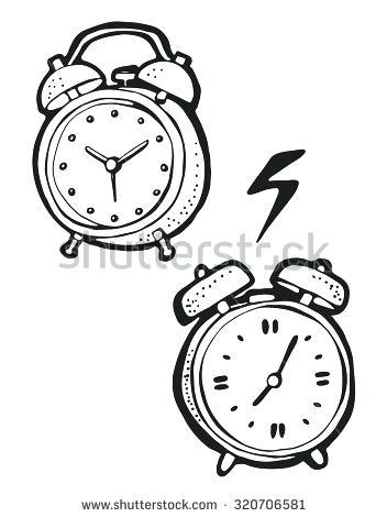 352x470 Alarm Clock Drawing Alarm Clock Coloring Page Alarm Clock Drawing