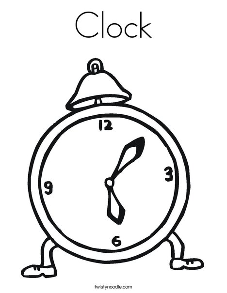 468x605 Clock Coloring Page