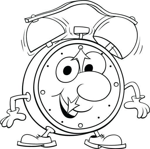 512x506 Clock Coloring Page Clock Coloring Page Alarm Clock Expensive