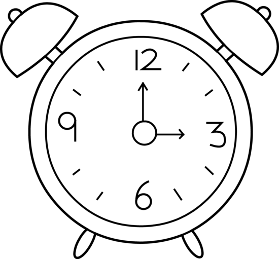 550x511 Alarm Clock Clip Art Black And White