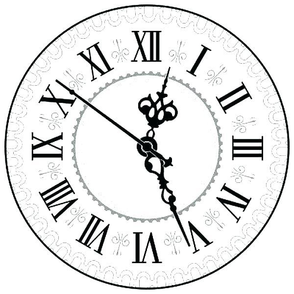 600x600 Clock Coloring Page Digital Alarm Clock Coloring Pages Wall Clock