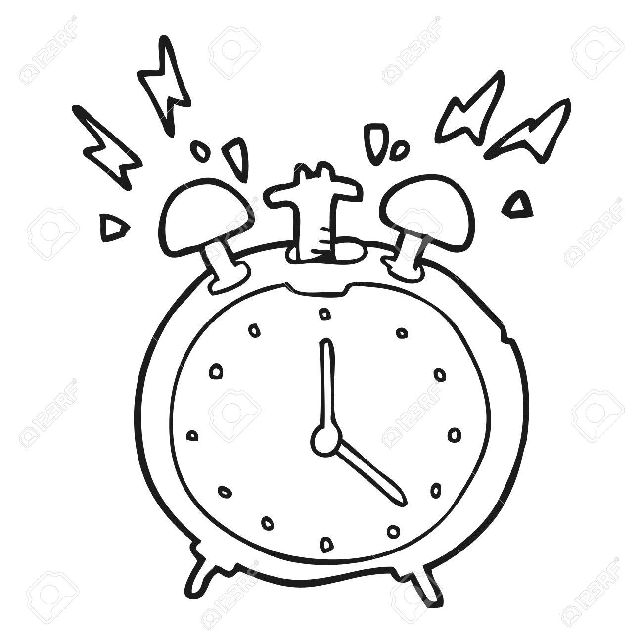 1300x1300 Clock Coloring Page Unique Alarm Line Art Free Clip Resume Also