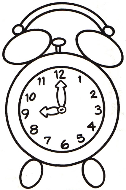 425x640 Clock Coloring Pages