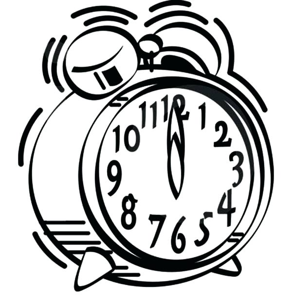 600x630 Clock Coloring Pages Alarm Clock Sound Of Alarm Clock Coloring