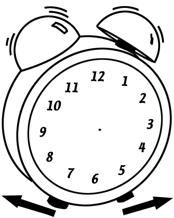 576x720 Clock Face Coloring Page