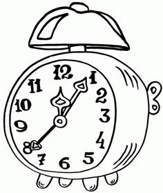 236x280 Printable Clock Coloring Pages For Kids