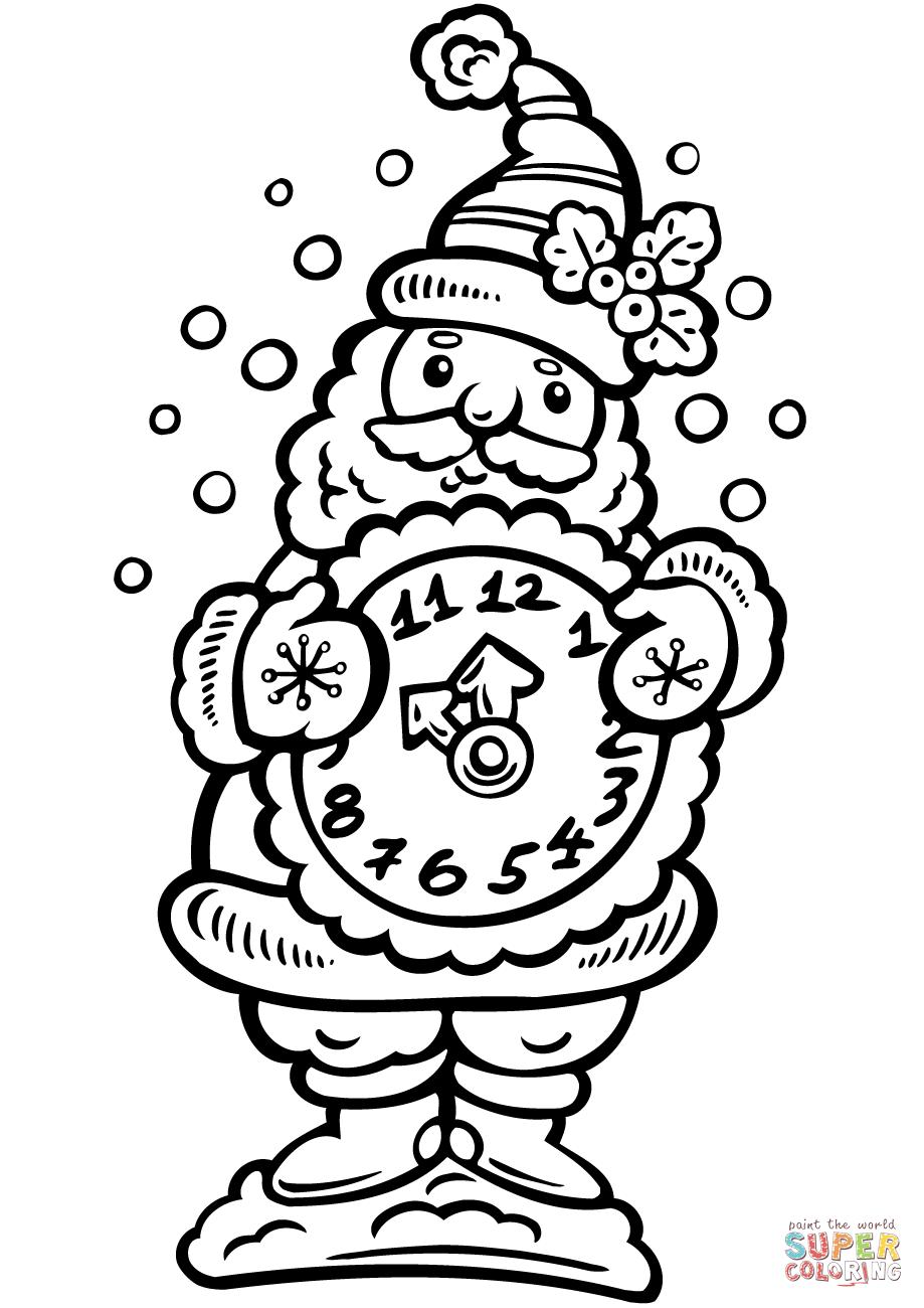 919x1300 Alarm Clock Coloring Page