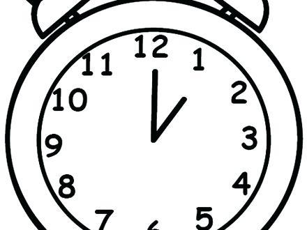 440x330 Alarm Clock Coloring Page Clock Coloring Pages Alarm Clock