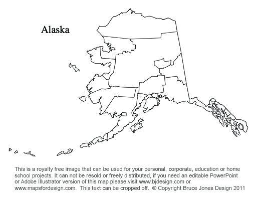Alaska Map Coloring Page